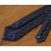 """Синий галстук в """"полоску мелом"""" FOUR-IN-HAND"""