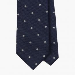 Синий галстук в горошек FOUR-IN-HAND