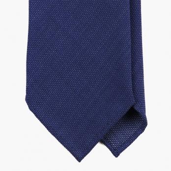 Синий шерстяной галстук FOUR-IN-HAND в семь сложений