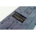 Синий шёлковый галстук с цветочным узором FOUR-IN-HAND