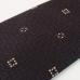 Тёмно-коричневый жаккардовый шелковый галстук с узором фуляр FOUR-IN-HAND