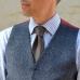 """Серый галстук в """"шотландскую клетку"""" FOUR-IN-HAND"""