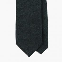 Зеленый шерстяной галстук в елочку FOUR-IN-HAND
