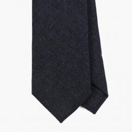 Синий шерстяной галстук в елочку FOUR-IN-HAND