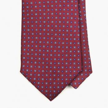Бордовый шелковый галстук в мелкий цветочек FUMAGALLI 1891