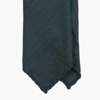 Темно-зеленый галстук из мягкой шерсти в ёлочку FUMAGALLI 1891