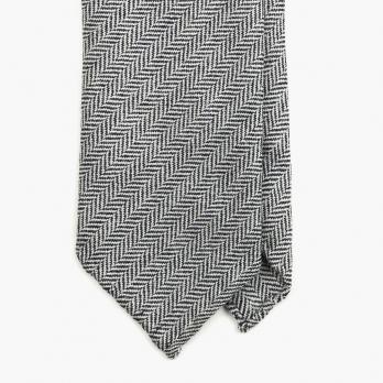 Серый галстук из мягкой шерсти в ёлочку FUMAGALLI 1891
