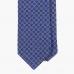 Синий шелковый галстук с цветочно-геометрическим рисунком FUMAGALLI 1891