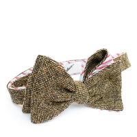 Brown Tweed Bow-Tie Inzhener Garin