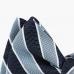 Синяя шелковая бабочка в косую полоску ГАРИН
