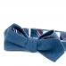 Синяя бабочка из денима с клетчатой подкладкой ИНЖЕНЕР ГАРИН