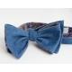 Синяя бабочка из шамбре с бежевой подкладкой с узором пейсли ИНЖЕНЕР ГАРИН