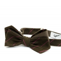 Charcoal Houndstooth wool Bow-Tie Inzhener Garin