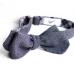 Тёмно-синяя меланжевая бабочка с клетчатой подкладкой ИНЖЕНЕР ГАРИН