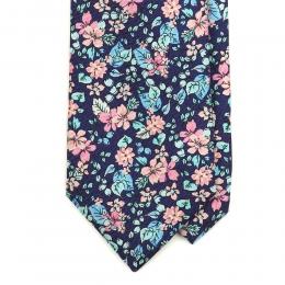 Шёлковый галстук MEROLA с растительным орнаментом