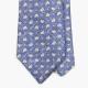 Голубой шёлковый галстук MEROLA с цветочным рисунком