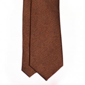 Коричневый шёлковый галстук MICHELSONS