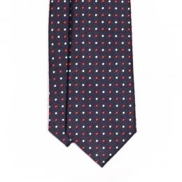 Синий галстук в красно-белый горошек MICHELSONS