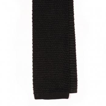 Черный вязаный галстук MICHELSONS