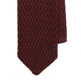 Бордовый вязаный галстук из шелка SERA FINE SILK
