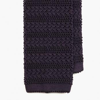 Пурпурный вязаный галстук из шелка SERA FINE SILK