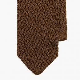 Темно-горчичный вязаный галстук из шелка SERA FINE SILK