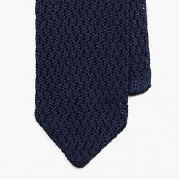 Темно-синий вязаный галстук из шелка SERA FINE SILK