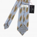 Вересково-голубой галстук с крупным рисунком STEFANO CAU