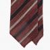 Гранатово-красный в темно-синюю и белую полоску гренадиновый галстук  STEFANO CAU