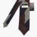 Гренадиновый галстук в крупную полоску бордово-сине-серых тонов STEFANO CAU