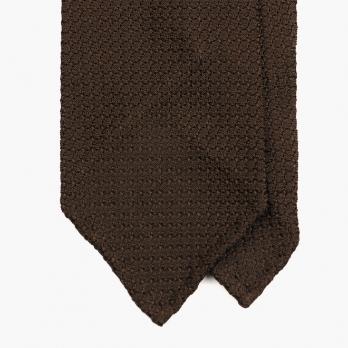 Коричневый галстук из шелка-гренадина STEFANO CAU