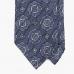 Лавандово-синий галстук с крупным узором медальон STEFANO CAU
