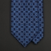 Синий шелковый галстук с плетеным орнаментом ASCOT