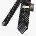 Черный в горошек шёлковый галстук STEFANO CAU