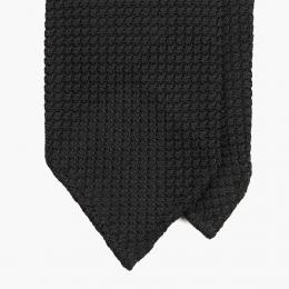 Черный галстук из шелка-гренадина STEFANO CAU