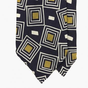 Шелковый галстук с винтажным рисунком в стиле 40-50-х  STEFANO CAU