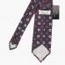 Шелковый галстук цвета индиго с цветочным рисунком STEFANO CAU