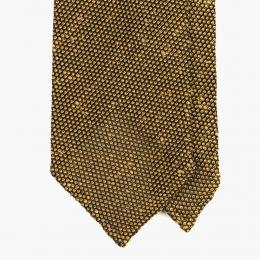 Янтарно-горчичный галстук из шёлка-гренадина STEFANO CAU