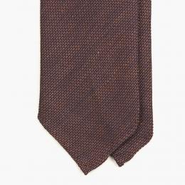 Бордово-коричневый галстук из шёлка-гренадина UMBERTO FORNARI