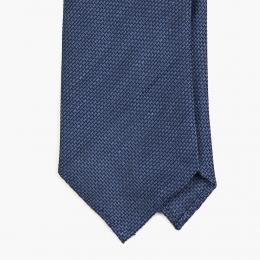 Синий галстук из шёлка-гренадина UMBERTO FORNARI