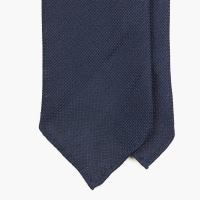 Тёмно-синий галстук из шёлка-гренадина UMBERTO FORNARI