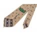 Бежевый галстук в горошек из шелка шантунг (Shantung) VARSUTIE
