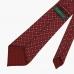 Бордовый шёлковый галстук с мелким узором VARSUTIE