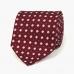 Бордовый шёлковый галстук с цветочным узором VARSUTIE