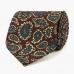 Бордовый шёлковый галстук с узором пейсли VARSUTIE