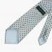 Голубой шёлковый галстук с мелким цветочным узором VARSUTIE