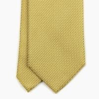 Жёлтый галстук из шёлка-гренадина VARSUTIE