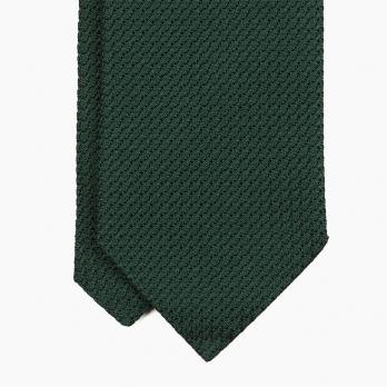 Зеленый галстук из шёлка-гренадина VARSUTIE
