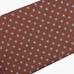 Коричневый шёлковый галстук с цветочным узором VARSUTIE