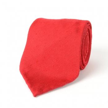 Красный галстук из шелка шантунг (Shantung) VARSUTIE
